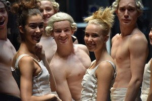 The cast of Sechs Tanze backstage. Photo: Brian Slater