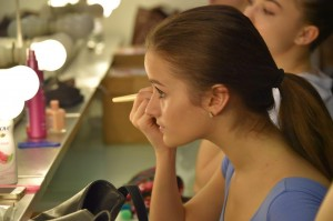 In make-up. Photo: Brian Slater