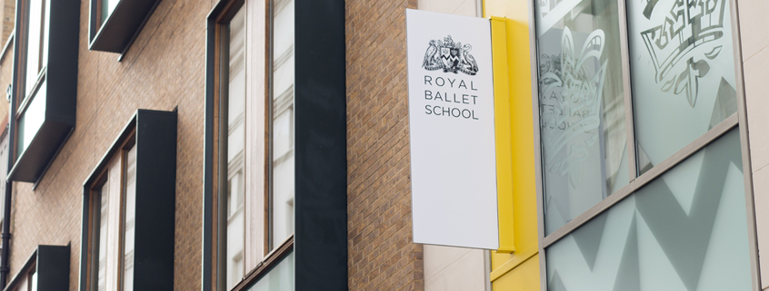 Royal Ballet School sign, Upper School, Floral Street, Covent Garden
