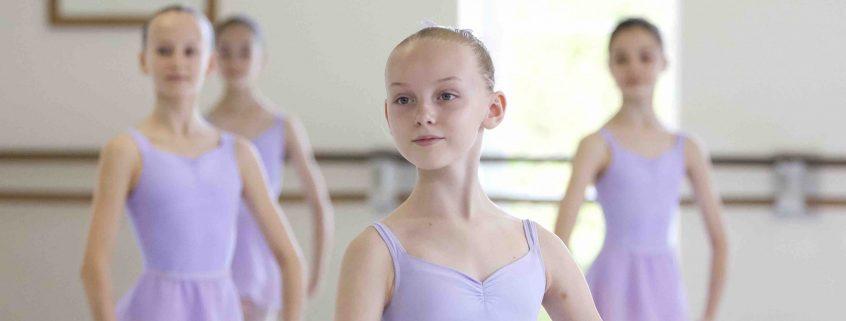 Year 7 Girls ballet class in White Lodge studios